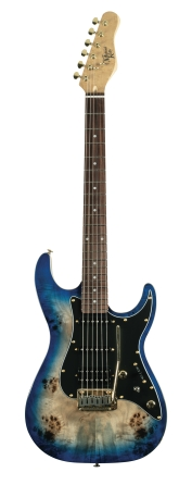 Product Cover for Blue Burst Burl 60 Ultra Double Cutaway Electric With Locking Tremelo System