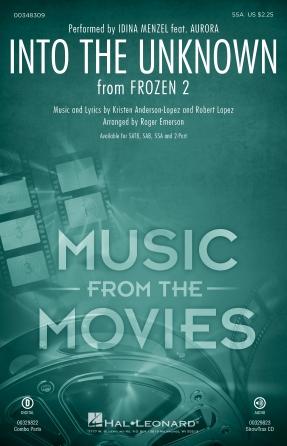 Into the Unknown : SSA : Roger Emerson : Robert Lopez : Idina Menzel : Frozen 2 : Sheet Music : 00348309 : 840126929966