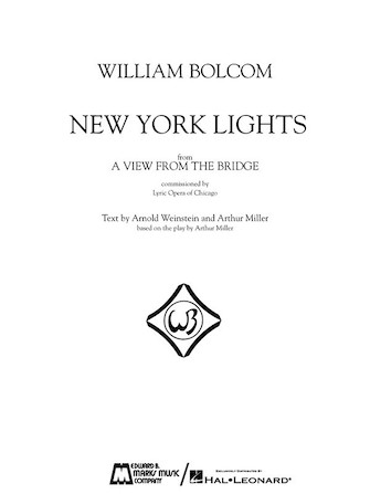 Product Cover for William Bolcom – New York Lights