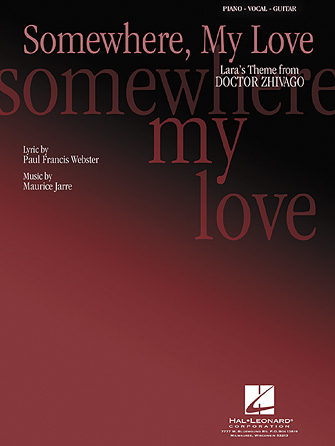 Product Cover for Somewhere, My Love (Lara's Theme)