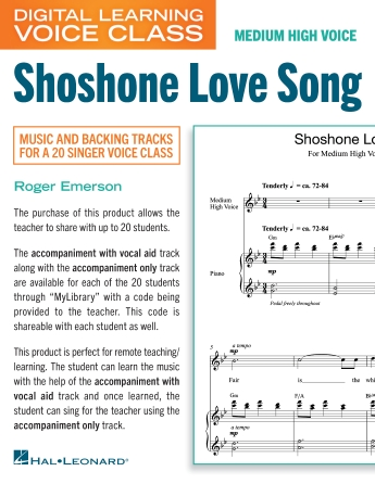 Product Cover for Shoshone Love Song (Medium High Voice) (includes Audio)