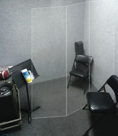 Product Cover for Sound and Virus Shield for Lesson Room 3-panel Clear Divider