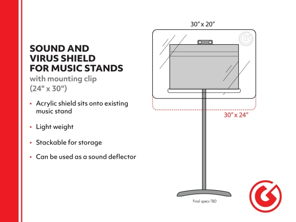 Product Cover for Sound and Virus Shield for Music Stand