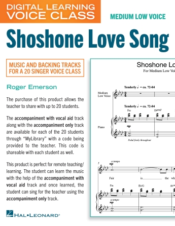 Product Cover for Shoshone Love Song (Medium Low Voice) (includes Audio)
