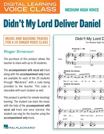 Product Cover for Didn't My Lord Deliver Daniel (Medium High Voice) (includes Audio)