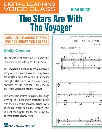 Product Cover for The Stars Are With The Voyager (Medium High Voice) (includes Audio)
