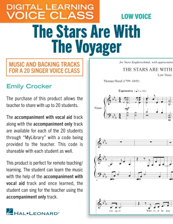 Product Cover for The Stars Are With The Voyager (Medium Low Voice) (includes Audio)