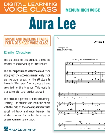 Product Cover for Aura Lee (Medium High Voice) (includes Audio)