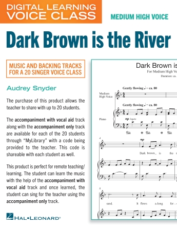 Product Cover for Dark Brown Is The River (Medium High Voice) (includes Audio)