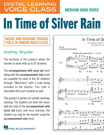 Product Cover for In Time Of Silver Rain (Medium High Voice) (includes Audio)