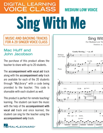 Product Cover for Sing With Me (Medium Low Voice) (includes Audio)