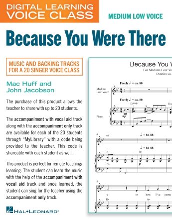 Product Cover for Because You Were There (Medium Low Voice) (includes Audio)