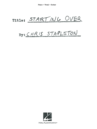 Chris Stapleton – Starting Over