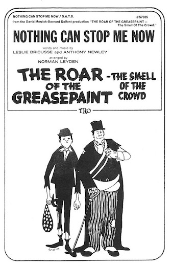 Nothing Can Stop Me Now : SATB : Norman Leyden : Leslie Bricusse : The Roar of the Greasepaint - The Smell of the Crowd : Sheet Music : 00378884 : 073999788846 : 0634024647