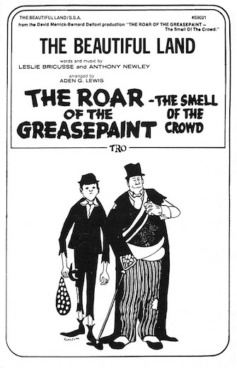 The Beautiful Land : SSA : Aden G. Lewis : Leslie Bricusse : The Roar of the Greasepaint - The Smell of the Crowd : Sheet Music : 00378917 : 073999789171 : 0634024957
