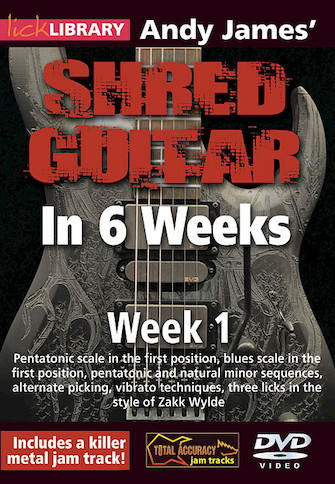 Product Cover for Andy James' Shred Guitar in 6 Weeks