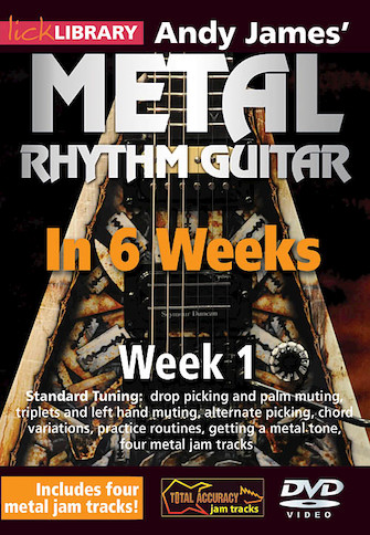 Product Cover for Andy James' Metal Rhythm Guitar in 6 Weeks