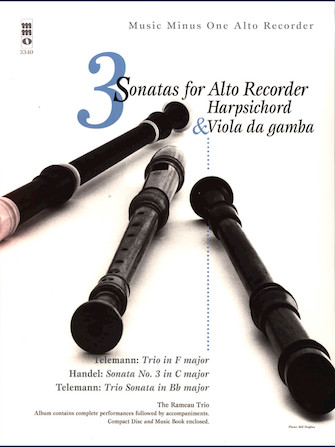 Product Cover for 3 Sonatas for Alto Recorder, Harpsichord & Viola da Gamba