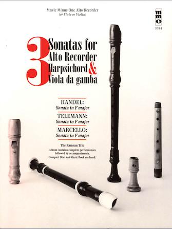 Product Cover for 3 Sonatas for Alto Recorder, Harpsichord & Viola da Gamba