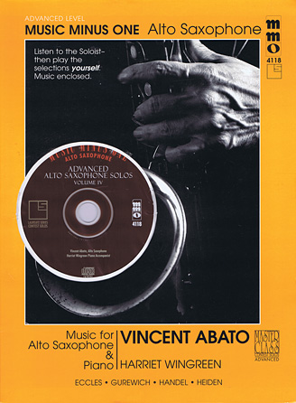 Product Cover for Advanced Alto Saxophone Solos – Vol. IV