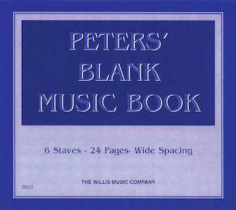 Product Cover for Peters' Blank Music Book (Blue)