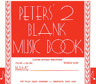 Product Cover for Peters' Blank Music Book (Red)