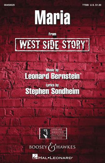 Maria : TTBB : William Stickles : Leonard Bernstein : West Side Story : Sheet Music : 00450029 : 073999536126