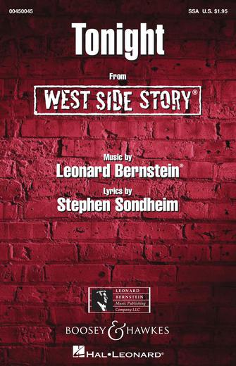Tonight : SSA : William Stickles : West Side Story : Sheet Music : 00450045 : 073999236798