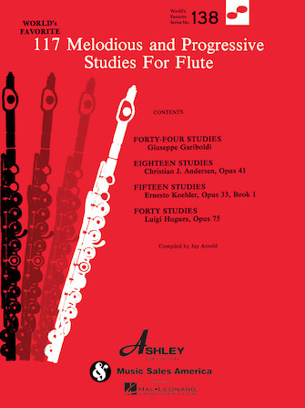 Product Cover for 117 Melodious and Progressive Studies for Flute
