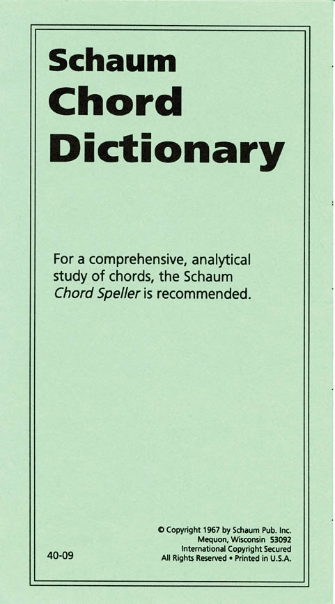 Product Cover for Chord Dictionary