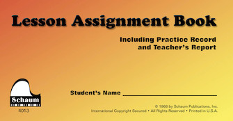Product Cover for Schaum Lesson Assignment Book