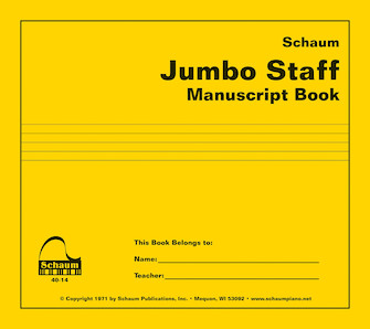 Product Cover for Jumbo Staff Manuscript Book