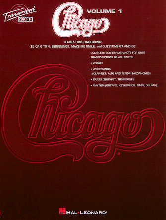 Product Cover for Chicago – Transcribed Scores Volume 1