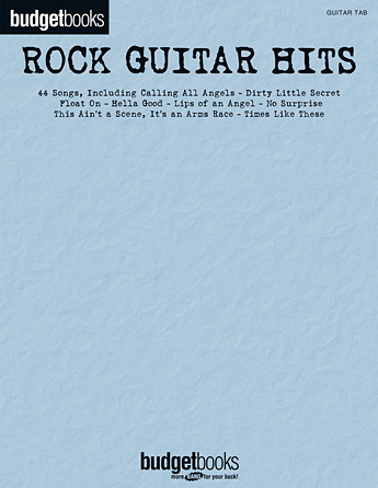 Product Cover for Rock Guitar Hits – Budget Book