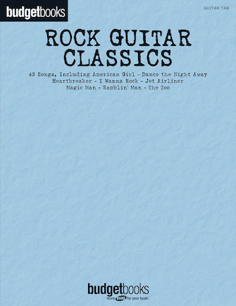 Product Cover for Rock Guitar Classics – Budget Book
