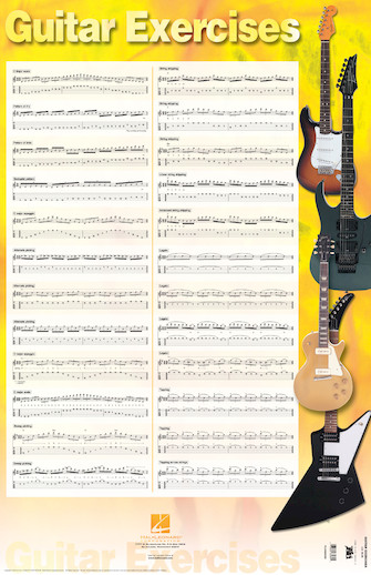 Product Cover for Guitar Exercises Poster