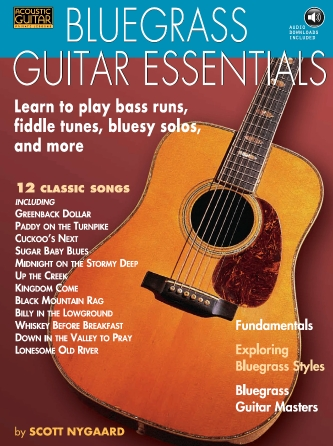 Product Cover for Bluegrass Guitar Essentials – Learn to Play Bass Runs, Fiddle Tunes, Bluesy Solos, and More
