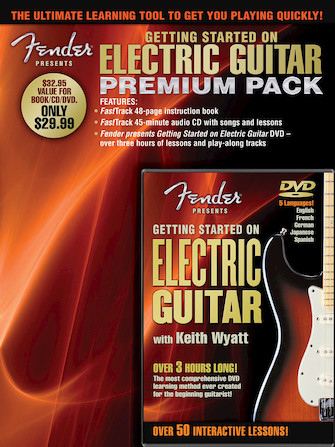Product Cover for Fender Presents Getting Started on Electric Guitar – Premium Pack