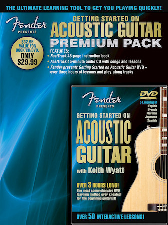 Fender Presents Getting Started on Acoustic Guitar – Premium Pack