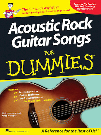 Product Cover for Acoustic Rock Guitar Songs for Dummies