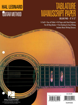 Product Cover for Guitar Tablature Manuscript Paper – Deluxe