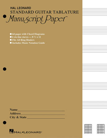 Product Cover for Guitar Tablature Manuscript Paper – Standard