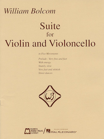 Product Cover for William Bolcom – Suite for Violin and Violincello