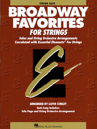 Product Cover for Essential Elements Broadway Favorites for Strings – String Bass