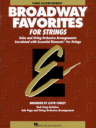 Product Cover for Essential Elements Broadway Favorites for Strings – Piano Accompaniment