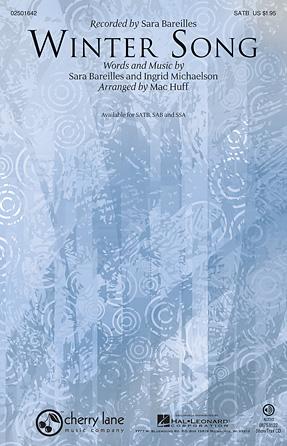 Winter Song : SATB : Mac Huff : Sara Bareilles : Sara Bareilles :  1 CD : 02501642 : 884088564391