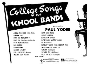 Product Cover for College Songs for School Bands – C Flute