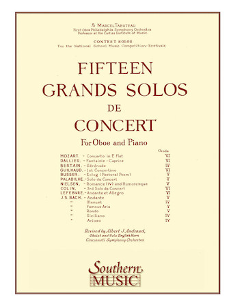 Product Cover for 15 (fifteen) Grands Solos De Concert +usa-only+