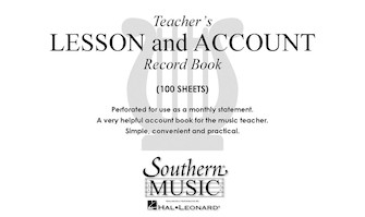 Product Cover for Teacher's Lesson and Account Record Book