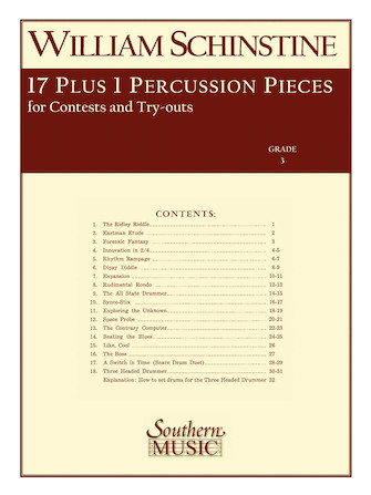 Product Cover for 17 + 1 Percussion Pieces